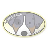 Anime Australian Shepherd Oval Decal