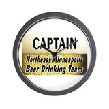 NE Minneapolis Beer Drinking Team Wall Clock