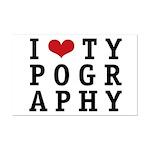 I Heart Typography Mini Poster Print