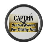 Central Avenue Beer Drinking Team Large Wall Clock
