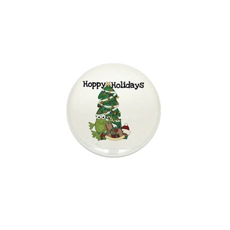 Frog Hoppy Holidays Mini Button (10 pack)