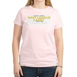 Navy League Moms Women's Pink T-Shirt