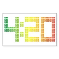 420 logo - Rasta style Rectangle Decal