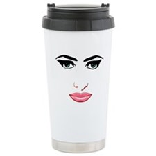 The female face Ceramic Travel Mug