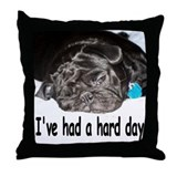 Cute Pug Throw Pillow