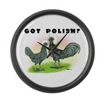 Got Polish? Large Wall Clock
