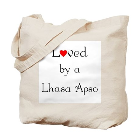 Loved by a Lhasa Apso Tote Bag