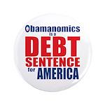 "Obamanomics 3.5"" Button"