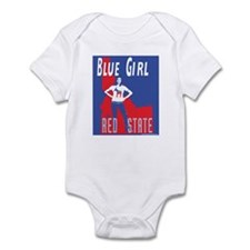 Blue Girl, Red State Infant Bodysuit