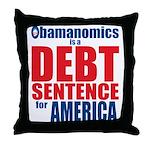 Obamanomics Throw Pillow