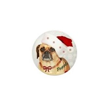 A Puggle Christmas Mini Button (10 pack)