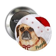 "A Puggle Christmas 2.25"" Button"