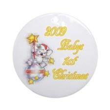 Babys 1st Christmas Ornament (Round)