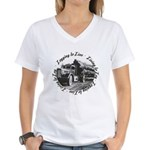 Living to Log Women's V-Neck T-Shirt