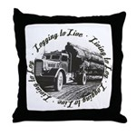 Living to Log Throw Pillow