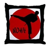 Noah Martial Arts Throw Pillow