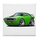 1971-72 Roadrunner Lime Car Tile Coaster