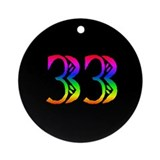 Rainbow 33 Ornament (Round)