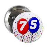 75th Birthday Button