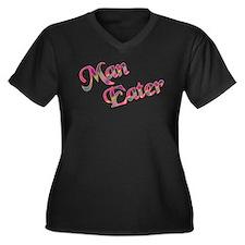 Man Eater! Women's Plus Size V-Neck Dark T-Shirt