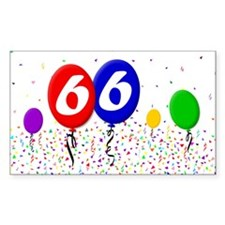 66th Birthday Rectangle Decal