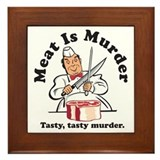 Meat Is Murder Framed Tile