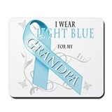 I Wear Light Blue for my Grandpa Mousepad