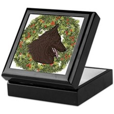 Belgian Tervuren Xmas Wreath Keepsake Box