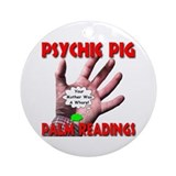 Psychic Pig Palm Readings Ornament (Round)