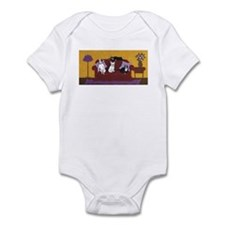 Hart Dogs on Couch Original Infant Bodysuit