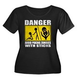 Zombie Warning Women's Plus Size Scoop Neck Dark T