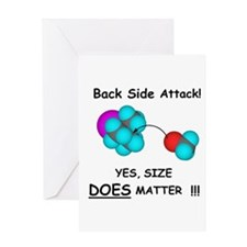 Back Side Attack Greeting Card