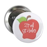 2nd Grade Apple 2.25&quot; Button