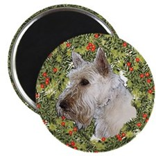 Scotty (Wheaten) Xmas Wreath Magnet