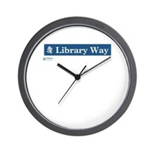 Library Way in NY Wall Clock