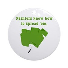 Funny Painters Ornament (Round)