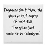 Engineers Glass Tile Coaster