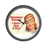 Cute Rockabilly Wall Clock