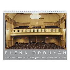 Elena Orduyan Jana in Carnegie Hall Wall Calendar