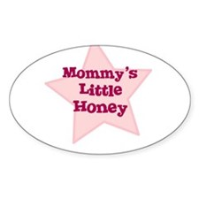 Mommy's Little Honey Oval Decal