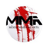 "MMA Blood Splatter 06 3.5"" Button"