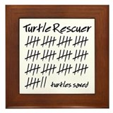 Turtle Rescuer Framed Tile