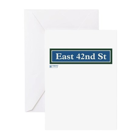 East 42nd Street in NY Greeting Cards (Pk of 10)