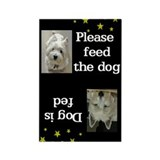 Please feed the dog nighttime magnet