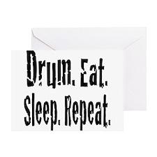 Drum.Eat.Sleep.Repeat. Greeting Card