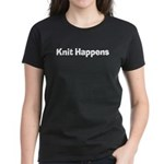 Knit Happens Kitting Happens Women's Dark T-Shirt
