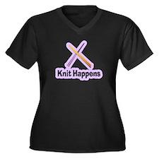 Knit Happens Kitting Happens Women's Plus Size V-N