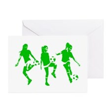 Green express Yourself Female Greeting Cards (Pk o