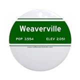 Weaverville Ornament (Round)