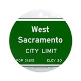 West Sacramento Ornament (Round)